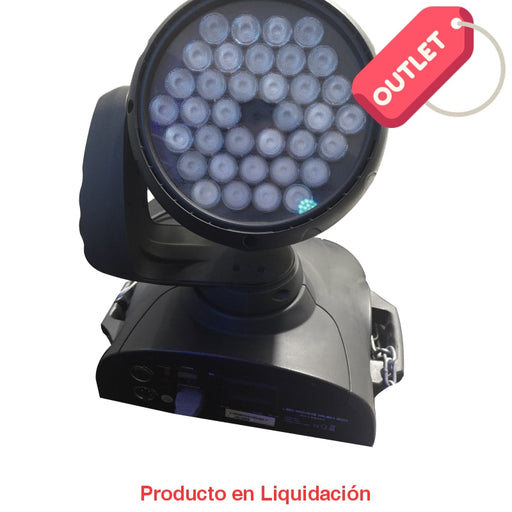 Luminaria Led Washer Moving Head 36W 120V Rgb Color Blanco Outlet