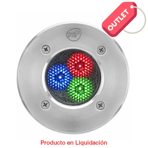 Reflector De Led Montaje En Piso 3W Rgb Ip65 Dmx Outlet