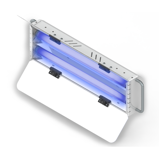 luminaria uv-c sanitizer 2x25 portatil, sensor y temporizador, mto