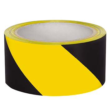 "cinta caution tape, 2"" x 33 mts de largo, negra/amarilla"