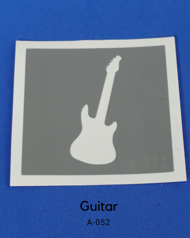 TATOUAGE PAR-T-GLITTER: GUITARE