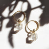 Angie Hoops I Clear Quartz