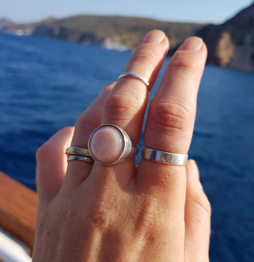 Stella Ring I Pink Mother of Pearl