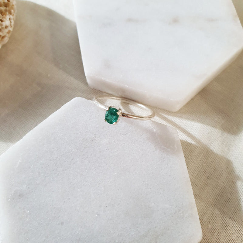 Green Tourmaline | Minimal Ring