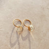Breathe Coin Gold Earrings