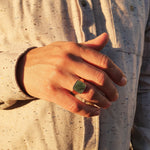 Ray Signet Ring I Emerald
