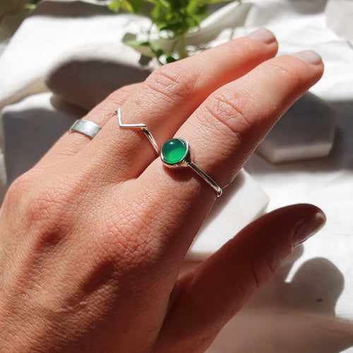 Maria Ring I Green Agate