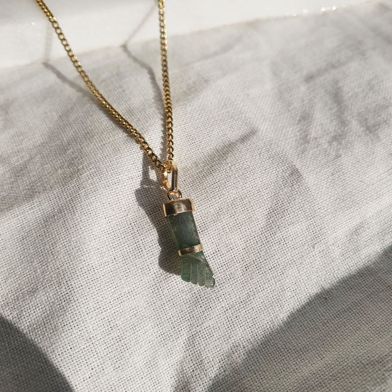 Figa Amulet | Green Quartz