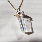 Clear Quartz and Tourmaline Pendant