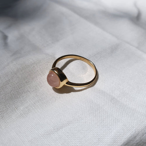 Maria Ring I Rose Quartz