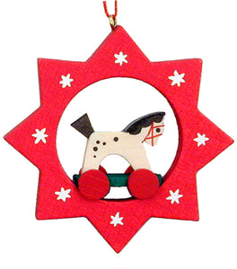 Christian Ulbricht Ornament - Star with Toy Horse