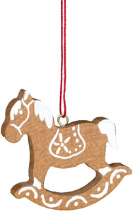 Christian Ulbricht Ornament - Rocking Horse - White/Brown