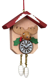 Christian Ulbricht Ornament - Elk on Cuckoo Clock