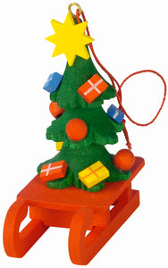 Christian Ulbricht Ornament - Christmas Tree on Sled