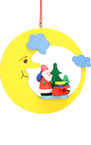 Christian Ulbricht Ornament - Santa with Sled in Moon