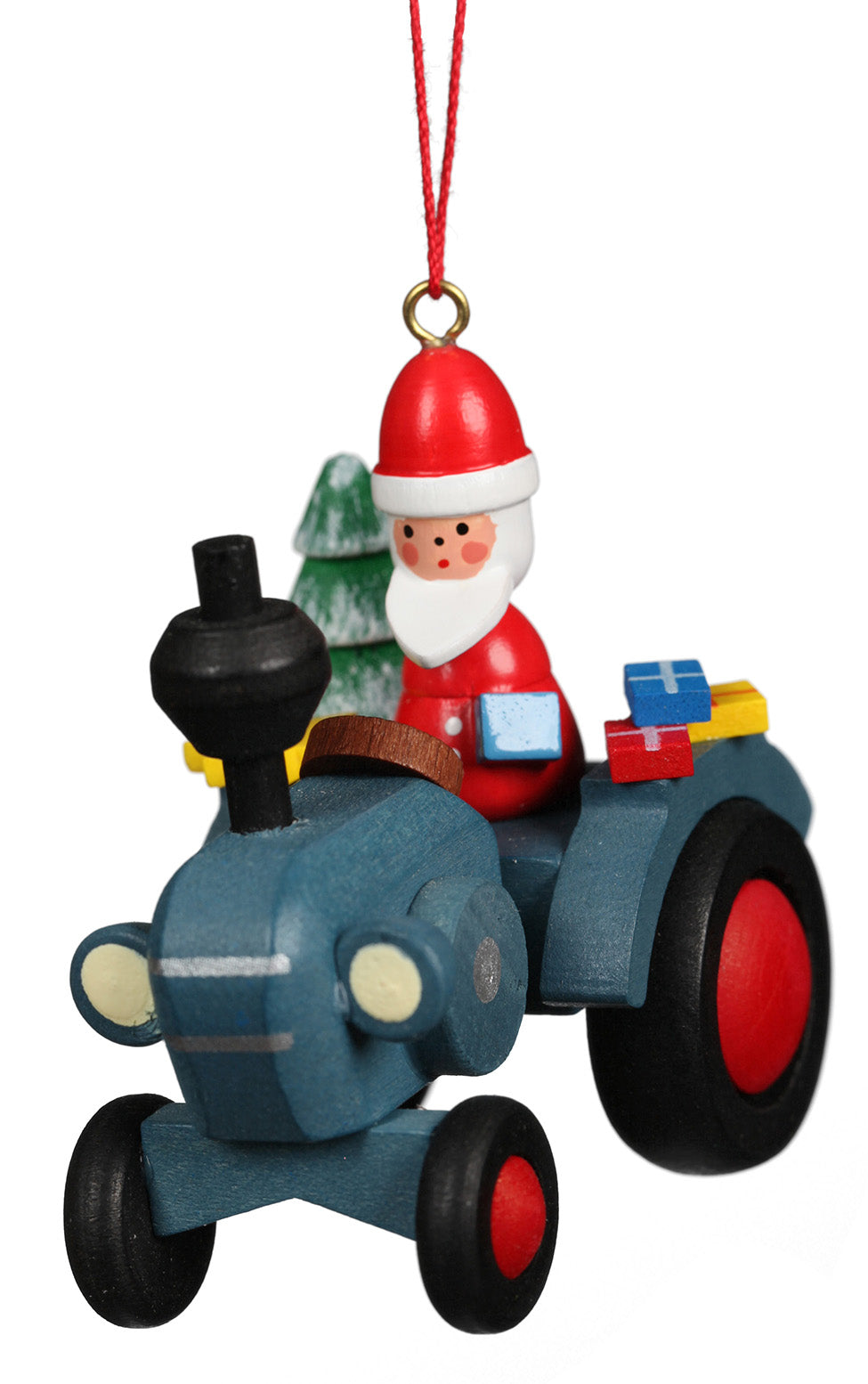 Christian Ulbricht Ornament - Tractor With Santa