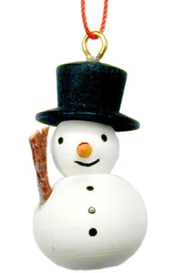 Christian Ulbricht Ornament - Snowman with Broom