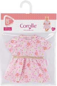 Pink Dress for 12-inch baby doll