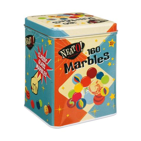 Marbles in Tin Box