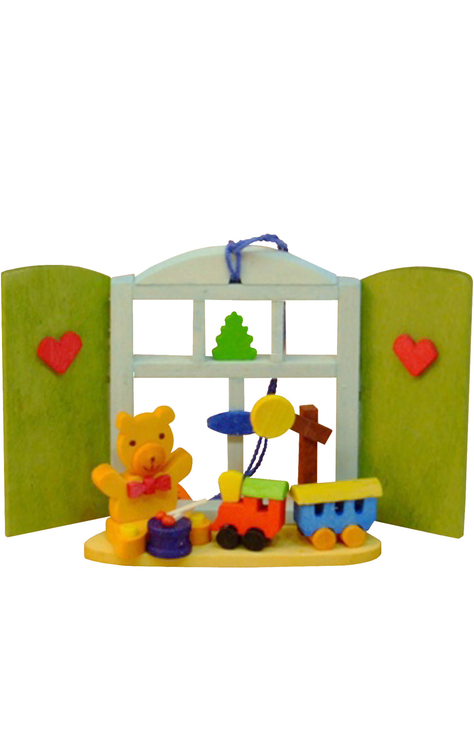 Graupner Ornament - Teddy with Toys/Window