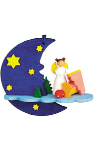 Graupner Ornament - Angel with Cradle/Moon