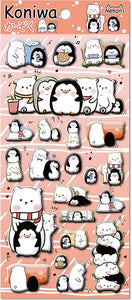 Penguin Puffy Stickers