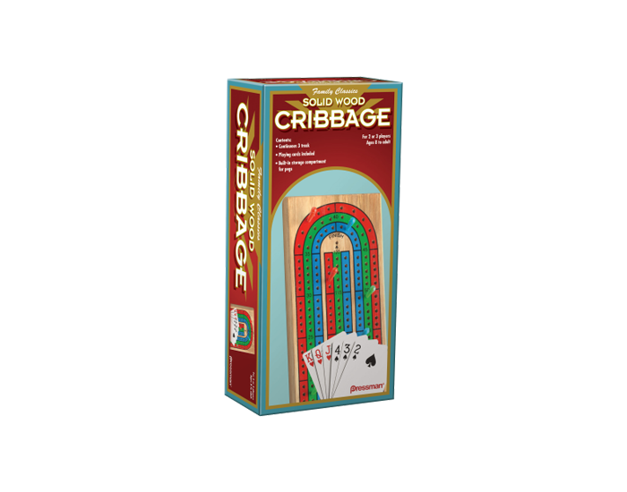 Cribbage With Cards in Wooden Box