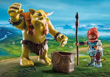 Giant Troll with Dwarf Fighter