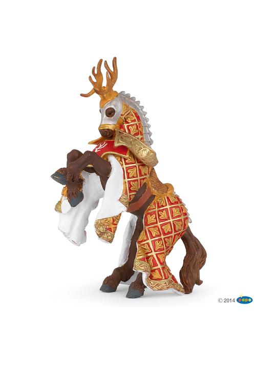 Papo Stag Knight Horse Red
