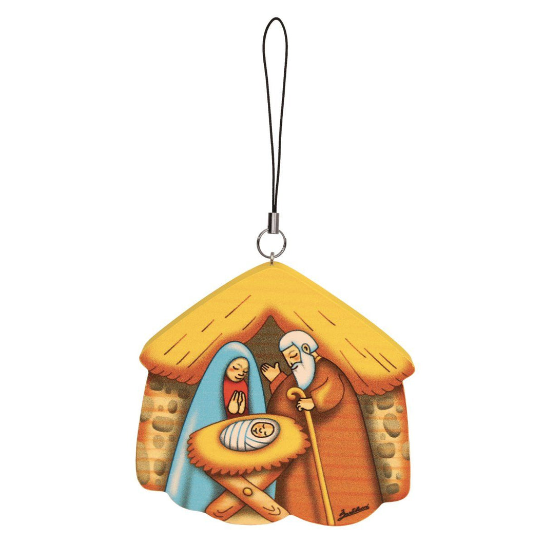 Nativity Wooden Ornament