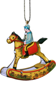 Collectible Tin Ornament - Rocking Horse