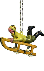 Collectible Tin Ornament - Sledder