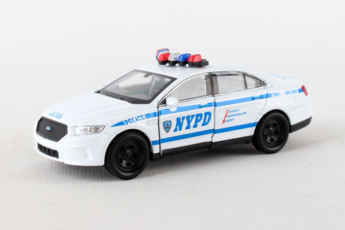 NYPD Die Cast Ford Police Car Pullback