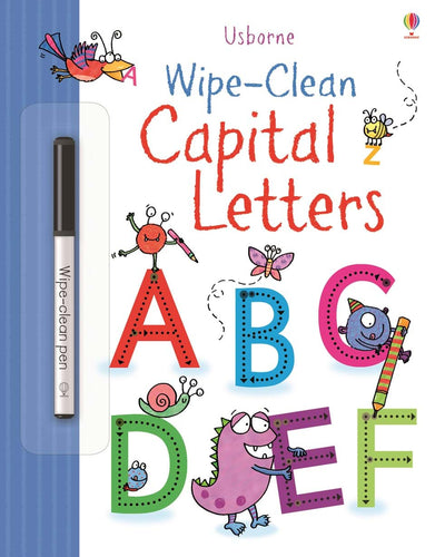 Wipe Clean Capital Letters Book