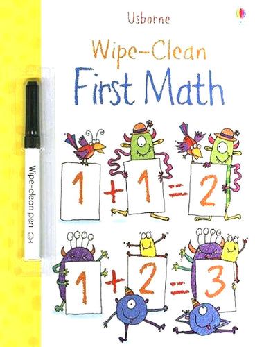 Wipe Clean First Math Book