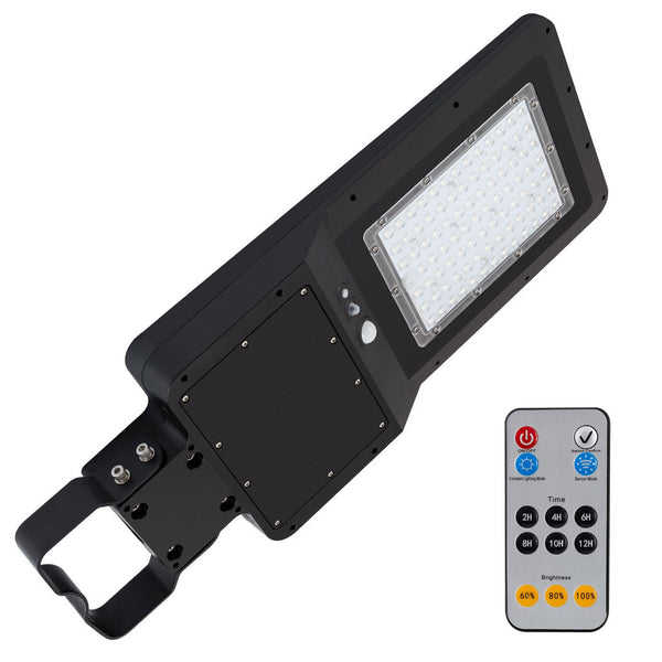 35W LED Solar Street Light Black 3,600 Lumens Day Light IP65
