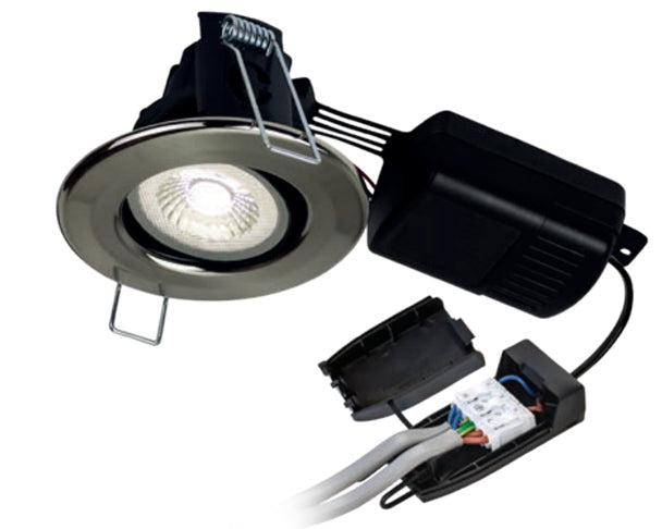 H4 Pro 550 SPS - 5W Tilt Dimmable Fire Rated LED Downlight IP65