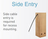 BOL LED MAINS - 5W Triple LED Mains Wooden Bollard Side Entry