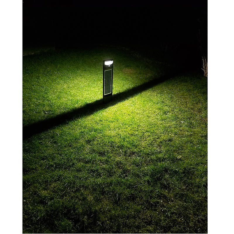 20W LED Solar Bollard Black 2,200 Lumens Day Light IP65