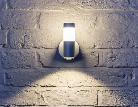 WL060 - 3W Silver LED Halo Flood Wall Light