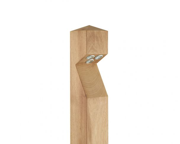 BOL LED 1 - 1W Single LED Wooden Bollard Base Entry