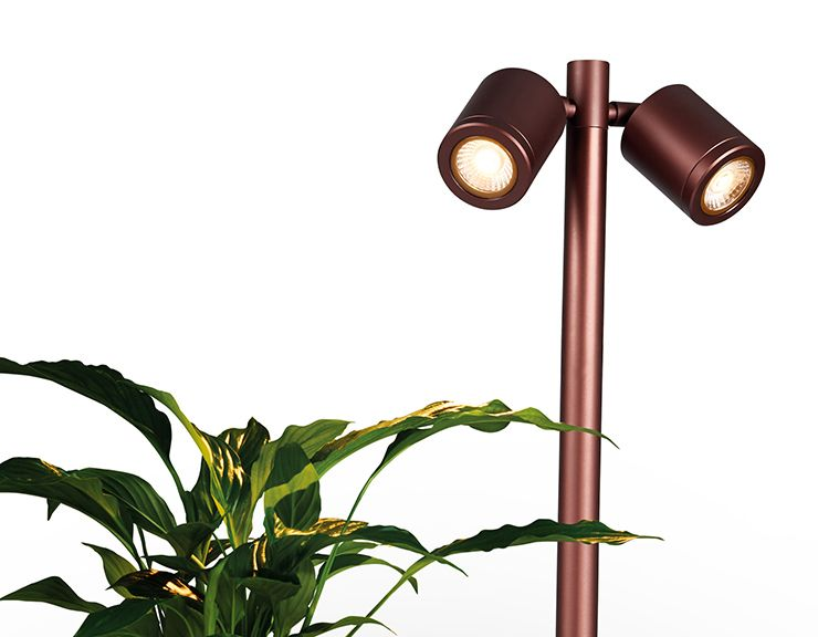 SL230 - 4.4W Twin Pole LED Black or Bronze Spike Light