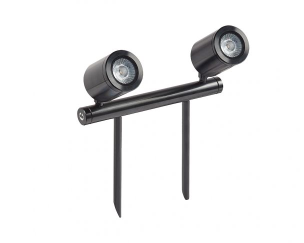 SL240 MAINS - 11.4W Twin Bar LED Black or Bronze Spike Light