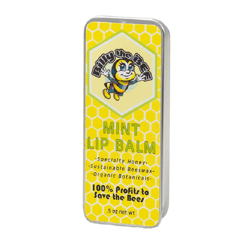 Mint Lip Balm in closed container from Billy the Bee Brand