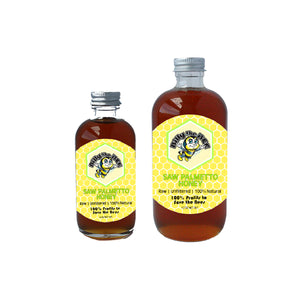 Saw Palmetto Honey from Billy the Bee Brand comes in 2 sizes