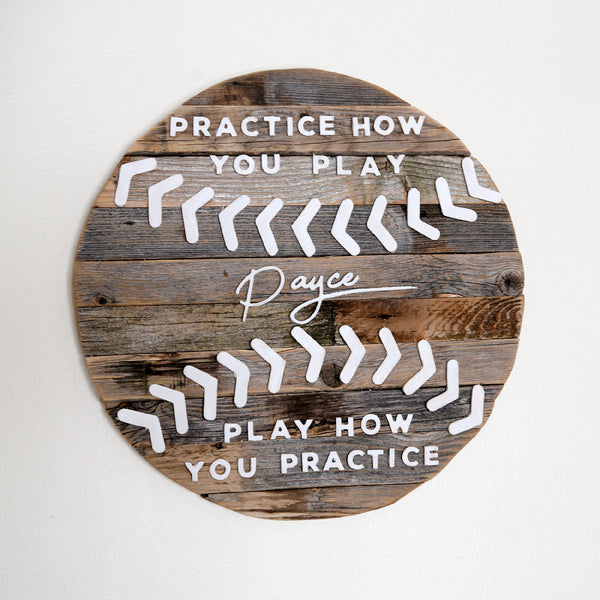 Rustic Baseball Quote Sign