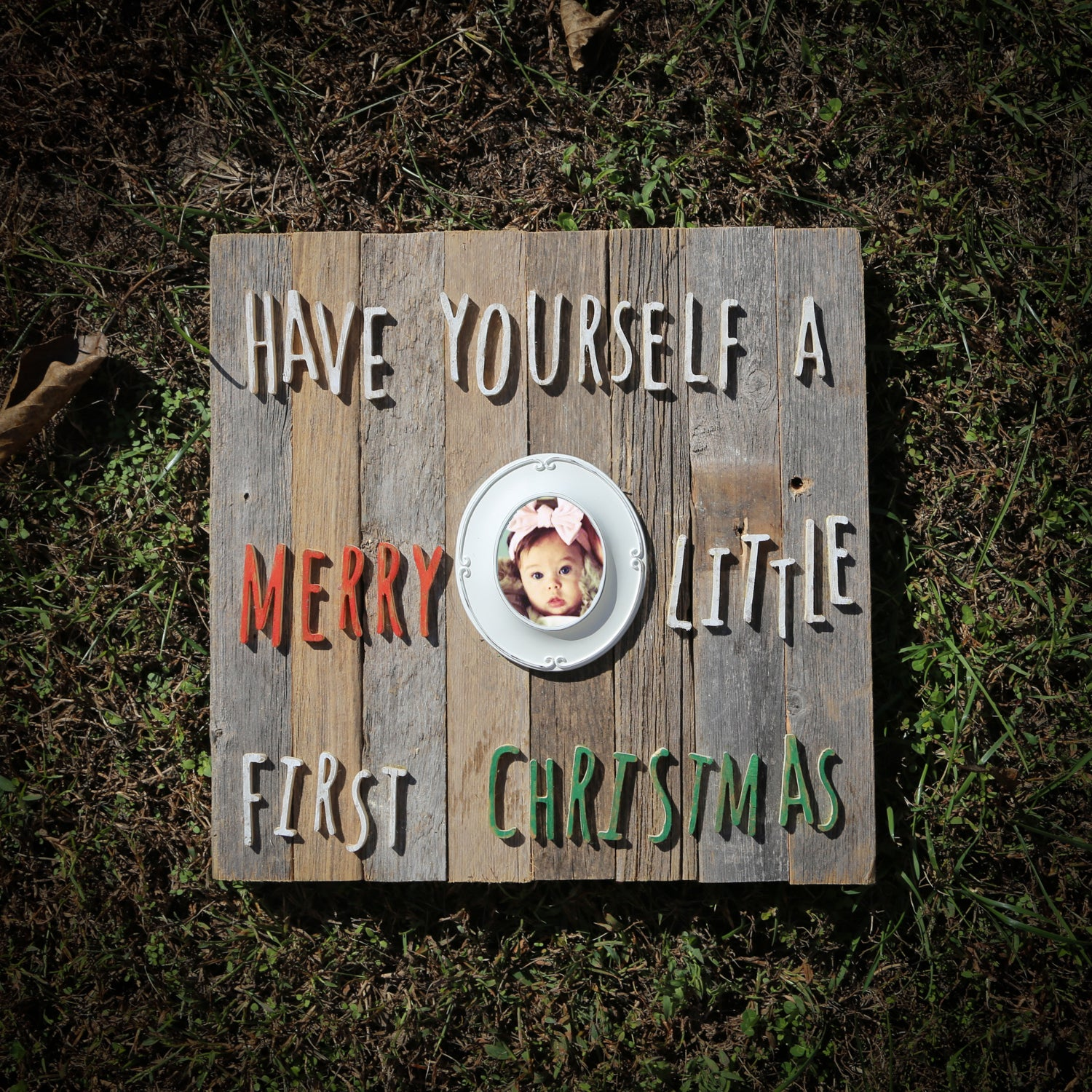 Baby First Christmas Sign
