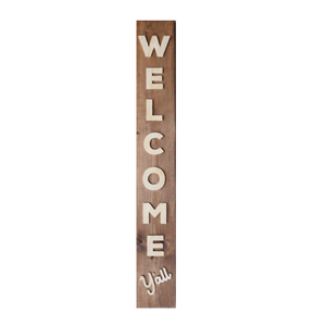 Welcome Y'all - Wood Sign