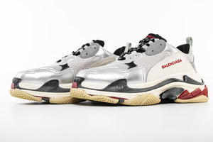 Triple S - Silver/Red/White