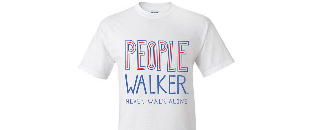 People Walker T-Shirt- Never Walk Alone